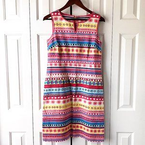 Talbots Tropical Textured Pastel Floral Sundress